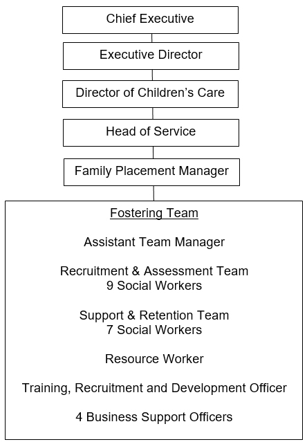 Fostering service organisational structure